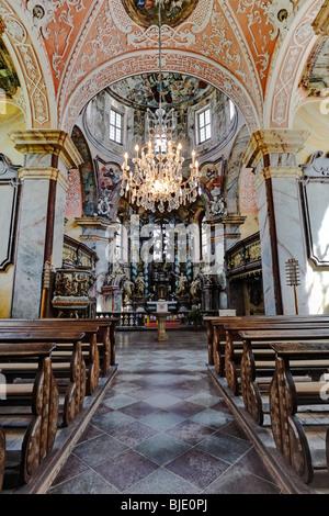 Evangelische Pfarrkirche Zum Heiligen Kreuz, Kloster Neuzelle, Neuzelle, Brandenburg, Deutschland, Europa - Stockfoto