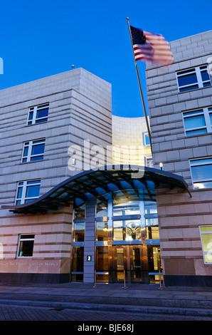 Botschaft der Vereinigten Staaten von Amerika am Pariser Platz, Berlin, Deutschland, Europa - Stockfoto