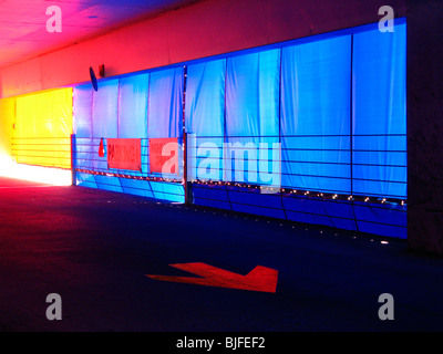 Bunte abstrakte Parkhaus - Stockfoto