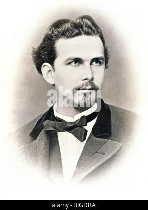 Louis II., 25.8.1845 - 13.6.1886, König von Bayern 10.3.1864 - 13.6.1886, Porträt, Foto von Joseph Albert, München, - Stockfoto