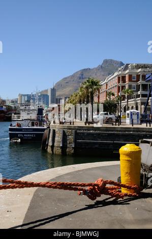 Cape Grace Hotel Vorderansicht auf die V & A Waterfront in Kapstadt Südafrika - Stockfoto