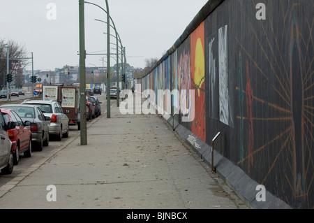 East-Side-Gallery an der Berliner Mauer Deutschland Europa - Stockfoto