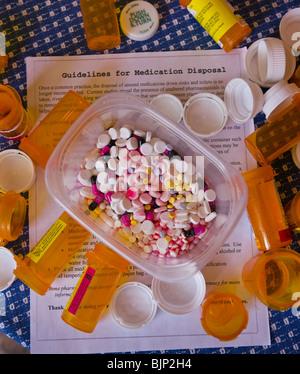 NEW YORK, USA - verschreibungspflichtige Medikamente, Pillen, Kapseln - Stockfoto