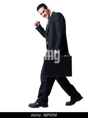 Geschäftsmann, tragen eine Aktentasche - Stockfoto