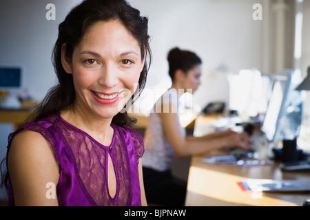 Geschäftsfrau arbeiten - Stockfoto