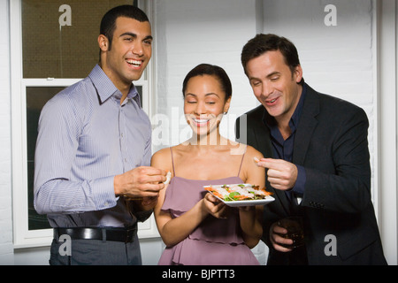 Partygänger, Essen - Stockfoto