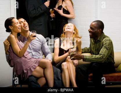 Partygänger, die Geselligkeit - Stockfoto