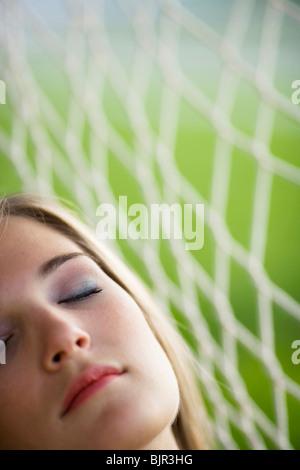 Teenager-Mädchen schlafen - Stockfoto