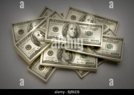Stapel von Amerika Geld - Stockfoto