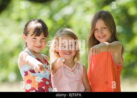Porträt von Freunden - Stockfoto