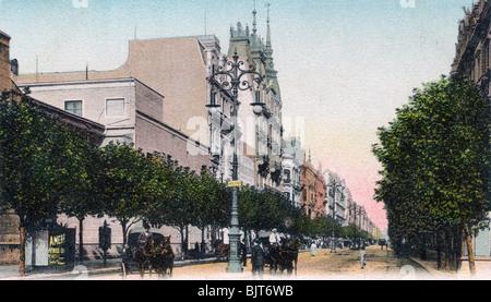 Die Avenida de Mayo, Buenos Aires, Argentinien, im frühen 20. Jahrhundert. Artist: Unbekannt - Stockfoto