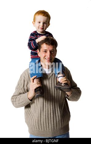 Vater mit Sohn - Stockfoto