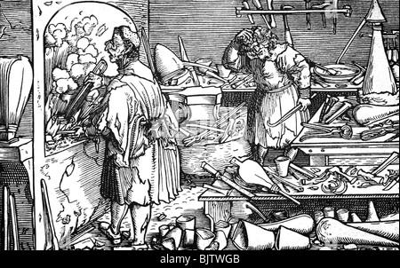 Alchemie Labor Werkstatt Eines Alchemisten Im Mittelalter