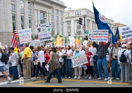 Rally Demonstration Washington DC gegen die Regierung zu protestieren. - Stockfoto
