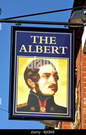 Die Albert Pub Schild, Tamworth, Staffordshire, England, UK - Stockfoto