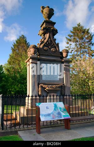 David Douglas Memorial, Scone, Perth und Kinross, Schottland. - Stockfoto