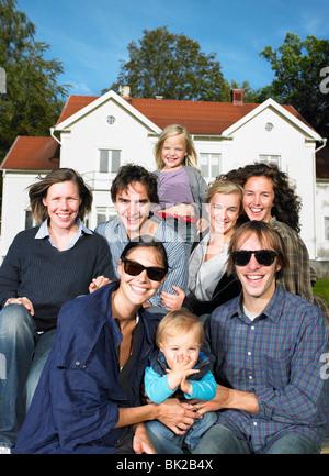 Eine Gruppe von Menschen zu schießen - Stockfoto