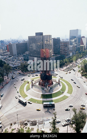 Independence Monument und Paseo De La Reforma in Mexiko-Stadt, Mexiko - Stockfoto