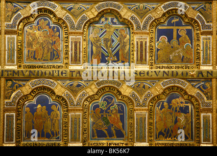 Verdun-Altar, Bildmaterial ergänzt durch Nikolaus von Verdun im Jahre 1811, Klosterneuburg, Österreich, Euruope - Stockfoto