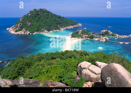 Luftaufnahme von Koh Nang Yuan Inseln vor Koh Tao, Thailand - Stockfoto
