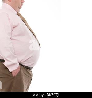 Übergewichtiger Mann - Stockfoto