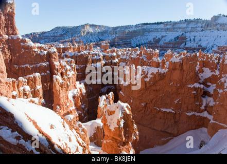 Blick auf die Hoodoos von Navajo Loop Trail in Bryce Canyon National Park, Utah. - Stockfoto