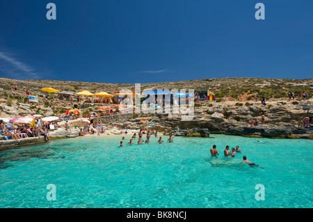 Blaue Lagune von Comino, Malta, Europa - Stockfoto