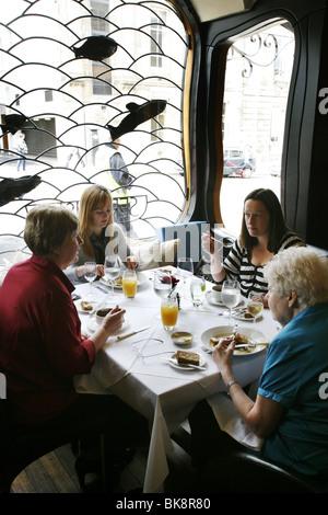 Zwei fette Damen Restaurant, Glasgow, Schottland - Stockfoto