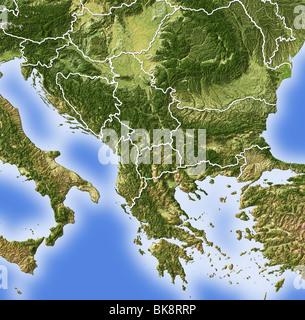landkarte von kroatien mit schattierten relief stockfoto. Black Bedroom Furniture Sets. Home Design Ideas