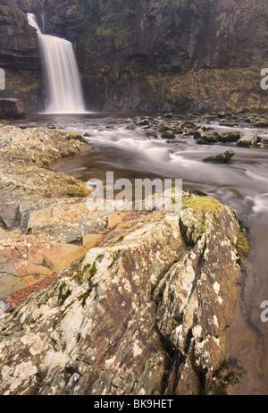 "Thornton Force Wasserfall, Teil von ""The Ingleton Wasserfälle Walk"" in Ingleton, Ribblesdale, Yorkshire Dales, UK - Stockfoto"