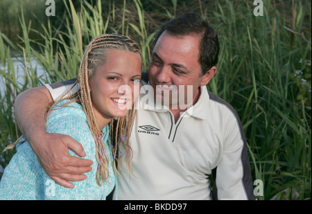 Junge Frau mit älteren Mann paar - Stockfoto