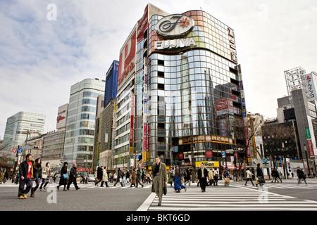 Beschäftigt Straßenszene in Tokyo, Japan - Stockfoto