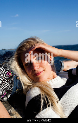 Blonde Mädchen - Stockfoto