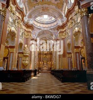 Kapelle in Melk Abbey, ein 10. Jahrhundert Kloster westlich von Wien, Österreich - Stockfoto