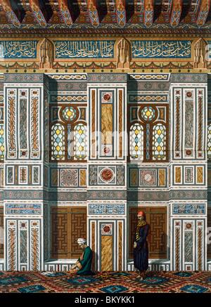 D ' Moschee El Bordeny Interieur De La Salle aus La Dekoration Arabe Prisse D'Avesnes USA Illinois Chicago Newberry - Stockfoto