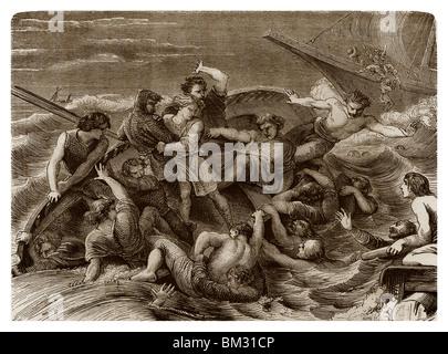 Am 25. November 1120, Schiffbruch des White Ship. - Stockfoto