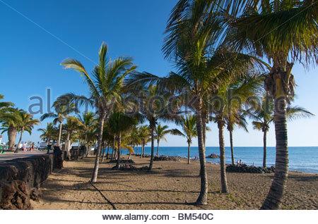Playa Grande Puerto del Carmen Lanzarote Kanarische Inseln Spanien - Stockfoto