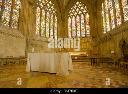 Die Lady Chapel Wells Cathedral Somerset England - Stockfoto