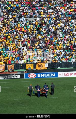 Südafrikanische Fußballspiel und Unterstützer Kapstadt Südafrika - Stockfoto