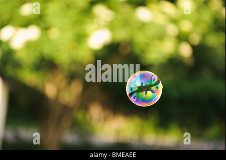 Eine Seifenblase, Schweden. - Stockfoto