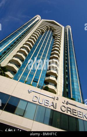 Wolkenkratzer Dubai Creek Tower im Stadtteil Deira, Dubai, Vereinigte Arabische Emirate - Stockfoto