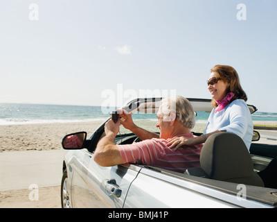 Paar auf Road-trip - Stockfoto
