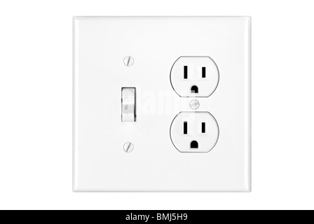 lichtschalter und steckdose stockfoto bild 37518901 alamy. Black Bedroom Furniture Sets. Home Design Ideas