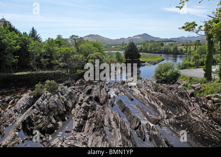 Fluss, Sneem, Ring of Kerry, Irland - Stockfoto