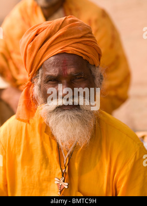 Varanasi, Indien; Porträt eines Sadhu - Stockfoto