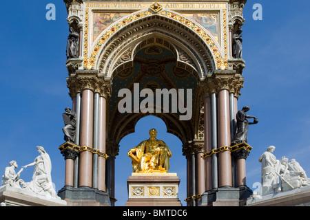 Albert Memorial, Kensington Gardens London, Samstag, 10. April 2010. - Stockfoto
