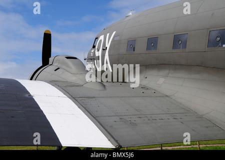 SNAFU Express DC3 Dakota im Merville Batterie Museum in Normandie Frankreich - Stockfoto