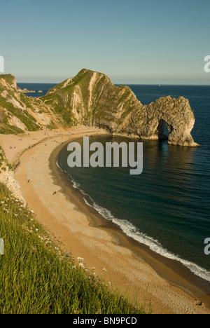 Durdle Door, auf der Jurassic Coast, Dorset, England, Großbritannien. - Stockfoto