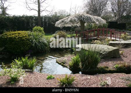Gesamtansicht Der Chester Zoo Steingarten.   Stockfoto