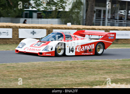 Porsche 962 Le Mans Racing Sportwagen beim Goodwood Festival of Speed West Sussex England Vereinigtes Königreich - Stockfoto